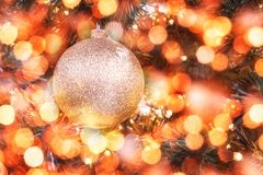 Weihnachts- und des neuen Jahresdekoration, extrahieren unscharfen bokeh Feiertagshintergrund Stockfotografie