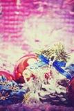 Weihnachts- und des neuen Jahresdekorationen Lizenzfreies Stockbild