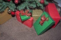 Weihnachts- und des neuen Jahresdekorationen Stockbild