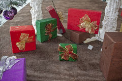 Weihnachts- und des neuen Jahresdekorationen Stockfotografie