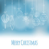 Weihnachts- und des neuen Jahreseinladungskarte Lizenzfreies Stockfoto