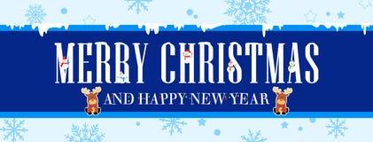 Weihnachts- und des neuen Jahresfahne Lizenzfreie Stockfotos