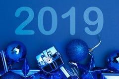 Weihnachts- und des neuen Jahresfeierhintergrund Lizenzfreies Stockbild