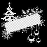 Weihnachts- und des neuen Jahresfeld lizenzfreie abbildung