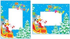 Weihnachts- und des neuen Jahresgrenzen vektor abbildung