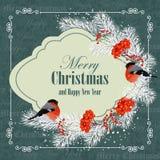 Weihnachts- und des neuen Jahresgrußkarte lizenzfreies stockfoto