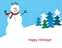 Weihnachts- und des neuen Jahresgrußkarte Stock Abbildung