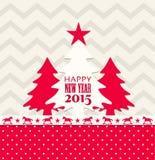 Weihnachts- und des neuen Jahresgrußkarte 2015 Stockbild