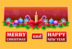 Weihnachts- und des neuen Jahresgrußkarte Lizenzfreie Stockbilder