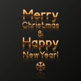 Weihnachts- und des neuen Jahresgrußkarte Stockbilder