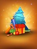 Weihnachts- und des neuen Jahresgrußkartenauslegung Lizenzfreie Stockfotos
