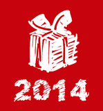 Weihnachts- und des neuen Jahreshandgemalte Dekoration Stockbild