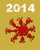 Weihnachts- und des neuen Jahreshandgemalte Dekoration Lizenzfreie Stockfotografie
