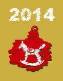 Weihnachts- und des neuen Jahreshandgemalte Dekoration Stockfotos