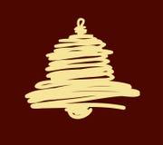 Weihnachts- und des neuen Jahreshandgemalte Dekoration Lizenzfreies Stockbild
