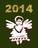 Weihnachts- und des neuen Jahreshandgemalte Dekoration Stockbilder