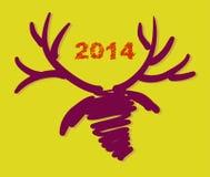 Weihnachts- und des neuen Jahreshandgemalte Dekoration Lizenzfreies Stockfoto