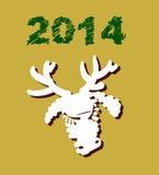 Weihnachts- und des neuen Jahreshandgemalte Dekoration Lizenzfreie Stockbilder