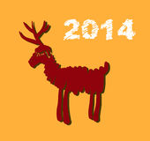 Weihnachts- und des neuen Jahreshandgemalte Dekoration Stockfoto