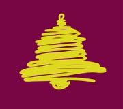 Weihnachts- und des neuen Jahreshandgemalte Dekoration Stockfotografie