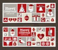 Weihnachts- und des neuen Jahreshintergrund Lizenzfreies Stockfoto