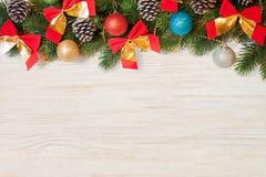 Weihnachts- und des neuen Jahreshintergrund Stockbild