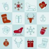 Weihnachts- und des neuen Jahreshintergrund lizenzfreie abbildung