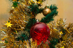 Weihnachts- und des neuen Jahreshintergrund Stockbilder