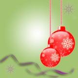 Weihnachts- und des neuen Jahreskarte Vektor Abbildung