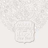 Weihnachts- und des neuen Jahreskarte Stockfotografie