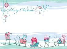 Weihnachts- und des neuen Jahreskarte Stockfotos