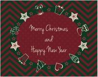 Weihnachts- und des neuen Jahreskarte Stockbild