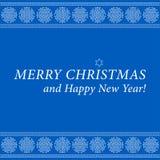 Weihnachts- und des neuen Jahreskarte-dekorative Schneeflocken Lizenzfreie Stockbilder