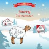 Weihnachts- und des neuen Jahreskarte ENV, JPG Stockbilder