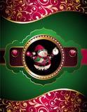 Weihnachts- und des neuen Jahreskarte mit Schneemann Stockfoto