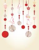 Weihnachts- und des neuen Jahreskartenentwurf Lizenzfreies Stockbild