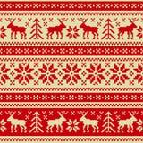 Weihnachts- und des neuen Jahresnahtlose Verzierung lizenzfreie abbildung