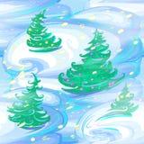 Weihnachts- und des neuen Jahresnahtloses Muster vektor abbildung