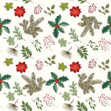 Weihnachts- und des neuen Jahresnahtloses Muster Stockfotografie