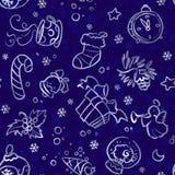 Weihnachts- und des neuen Jahresnahtloses Muster Lizenzfreie Stockfotografie