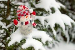Weihnachts- und des neuen Jahresschneemann Lizenzfreies Stockbild