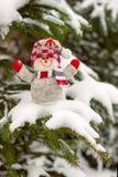 Weihnachts- und des neuen Jahresschneemann Stockbild