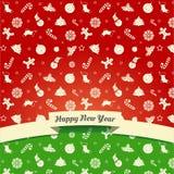 Weihnachts- und des neuen Jahressymbole Lizenzfreie Stockbilder