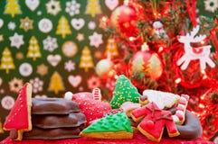 Weihnachts- und des neuen Jahresthemenorientierte Dekoration Lizenzfreies Stockbild