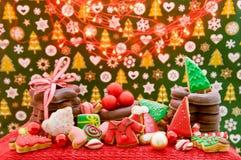 Weihnachts- und des neuen Jahresthemenorientierte Dekoration Lizenzfreies Stockfoto