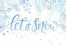 Weihnachts- und des neuen Jahrestypographie Lizenzfreies Stockbild