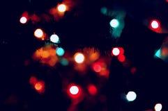 Weihnachts- und des neuen Jahresunschärfenhintergrund Stockfotos