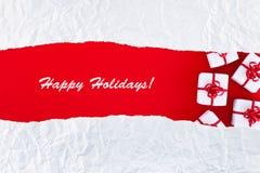 Weihnachts- und Feiertagsgrußkarte Stockfotos