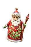Weihnachts- und Figürchenschneemann und -sankt des neuen Jahres stockbild