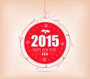 Weihnachts- und guten Rutsch ins Neue Jahr-Aufkleberkarte Lizenzfreies Stockbild